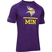 Under Armour NFL Combine Authentic Men's Minnesota Vikings Lockup Logo Tech Purple T-Shirt