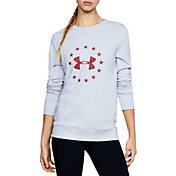 Under Armour Women's Freedom TB Fleece Crew Neck Sweatshirt