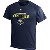 Under Armour Youth Columbia Fireflies Navy Tech Performance T-Shirt