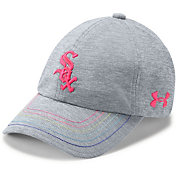 Under Armour Youth Girls' Chicago White Sox Twisted Renegade Adjustable Hat