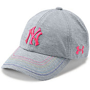 Under Armour Youth Girls' New York Yankees Twisted Renegade Adjustable Hat