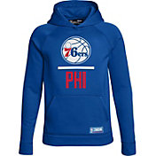 Under Armour Youth Philadelphia 76ers Royal Lockup Fleece Hoodie