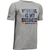 Under Armour NFL Combine Authentic Youth Denver Broncos Winning Business Grey T-Shirt