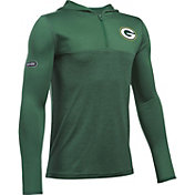 Under Armour NFL Combine Authentic Youth Green Bay Packers Tech Green Quarter-Zip Hoodie