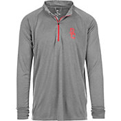 USC Authentic Apparel Men's USC Trojans Grey River Quarter-Zip Shirt