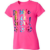 Umbro Girls' Dribble Kick Score Graphic Soccer T-Shirt