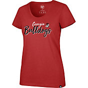 '47 Women's Georgia Bulldogs Red Scoop Neck T-Shirt