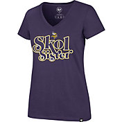 '47 Women's Minnesota Vikings Skol Sister Purple V-Neck T-Shirt