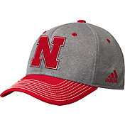 adidas Men's Nebraska Cornhuskers Gren/Scarlet Structured Adjustable Hat