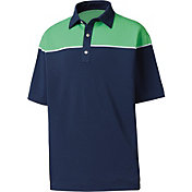 FootJoy Men's Color Block Pique Golf Polo