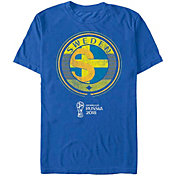 Fifth Sun Men's 2018 FIFA World Cup Sweden Contrast Round Royal T-Shirt