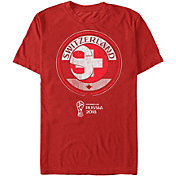 Fifth Sun Men's 2018 FIFA World Cup Switzerland Contrast Round Red T-Shirt