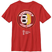 Fifth Sun Youth 2018 FIFA World Cup Belgium Contrast Round Red T-Shirt