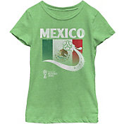Fifth Sun Youth Girls' 2018 FIFA World Cup Mexico Flag Ball Green T-Shirt