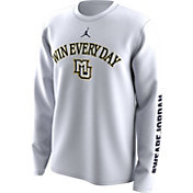 Jordan Men's Marquette Golden Eagles 'Win Every Day' Bench Legend Long Sleeve White T-Shirt