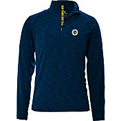 Levelwear Men's Nashville SC Mobility Navy Heathered Quarter-Zip Pullover