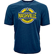 Levelwear Men's Nashville SC Logo Navy Heathered T-Shirt