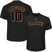 Majestic Men's San Francisco Giants Evan Longoria #10 Black T-Shirt