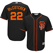 Majestic Men's Replica San Francisco Giants Andrew McCutchen #22 Cool Base Alternate Black Jersey