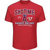 "Majestic Men's Los Angeles Angels Shohei Ohtani ""ShoTime"" Red T-Shirt"