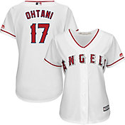 Majestic Women's Replica Los Angeles Angels Shohei Ohtani #17 Cool Base Home White Jersey
