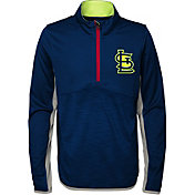 Majestic Youth St. Louis Cardinals Excellence Quarter-Zip Fleece