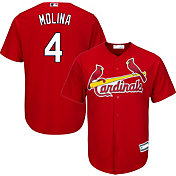 Youth Replica St. Louis Cardinals Yadier Molina #4 Alternate Red Jersey