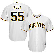 Majestic Youth Replica Pittsburgh Pirates Josh Bell #55 Cool Base Home White Jersey