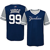 Majestic Youth New York Yankees Aaron Judge 'Judge' MLB Players Weekend Jersey Top
