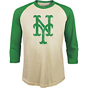 Majestic Threads Men's New York Mets St. Patrick's Day Raglan Three-Quarter Shirt