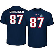 NFL Men's Super Bowl LII Bound New England Patriots Rob Gronkowski #87 Navy T-Shirt