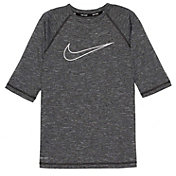 Nike Boys' Heather Swoosh Half Sleeve Hydro Rash Guard
