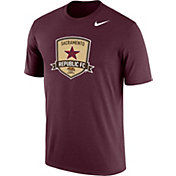 Nike Men's Sacramento Republic FC Logo Maroon Heathered Performance T-Shirt