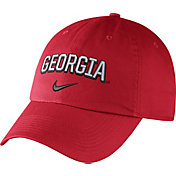 Nike Men's Georgia Bulldogs Red Heritage86 Wordmark Swoosh Flex Hat