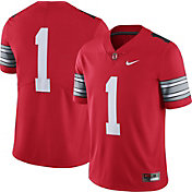 Nike Men's Ohio State Buckeyes #1 Scarlet 'Woody' Limited Football Jersey