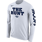 Nike Men's Nevada Wolf Pack 'The Hunt' Bench Legend Long Sleeve White T-Shirt