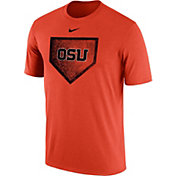 Nike Men's Oregon State Beavers Ornage Baseball Diamond T-Shirt
