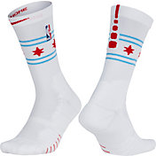 Nike Chicago Bulls City Edition Elite Quick NBA Crew Socks