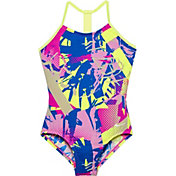 Nike Girls' Drift Graffiti T-Back Swimsuit