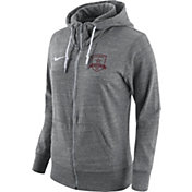 Nike Women's Sacramento Republic FC Logo Heather Grey Full-Zip Hoodie