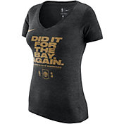 "Nike Women's 2018 NBA Champions Golden State Warriors ""Did It For The Bay Again"" V-Neck T-Shirt"
