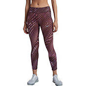 Nike Women's Epic Lux Marble Printed Crop Running Tights
