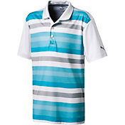 PUMA Boys' Turf Stripe Golf Polo