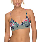 Roxy Women's Fitness Athletic Crossback Bikini Top