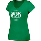 Scarlet & Gray Women's Ohio State Buckeyes Green St. Paddy's Day V-Neck Tee