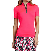 Tail Women's Short Sleeve ¼ Zip Golf Mock Neck
