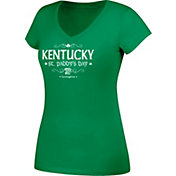 J. America Women's Kentucky Wildcats Green St. Paddy's Day V-Neck Tee