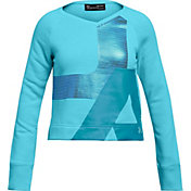 Under Armour Girls' Rival Fleece V-Neck Sweatshirt